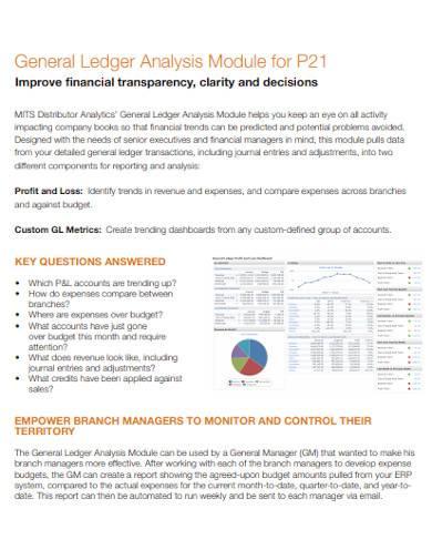 general ledger analysis module template