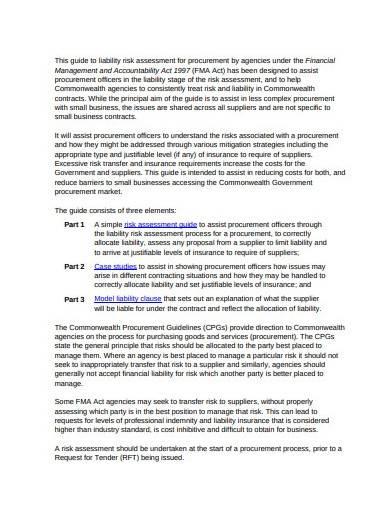 liability risk assessment guide