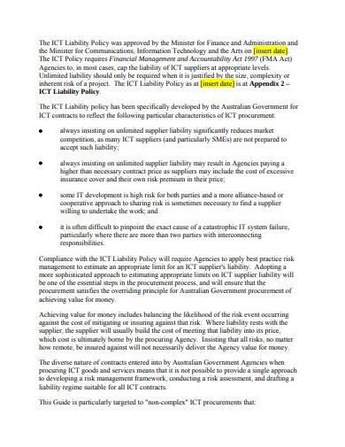 liability risk assessment sample