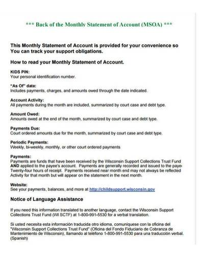 monthly account statement template