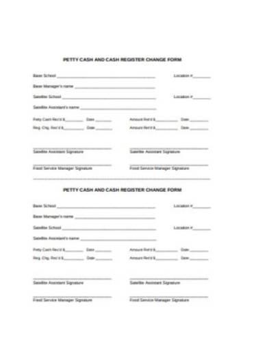 petty cash register change form template