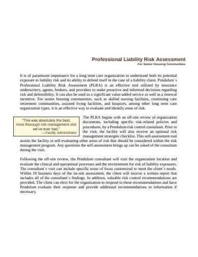 professional liability risk assessment