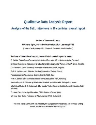 qualitative research report template