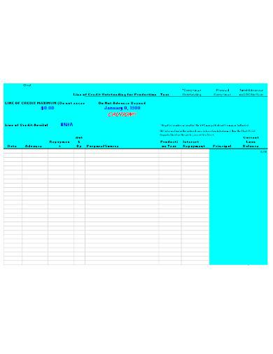 repayment ledger template