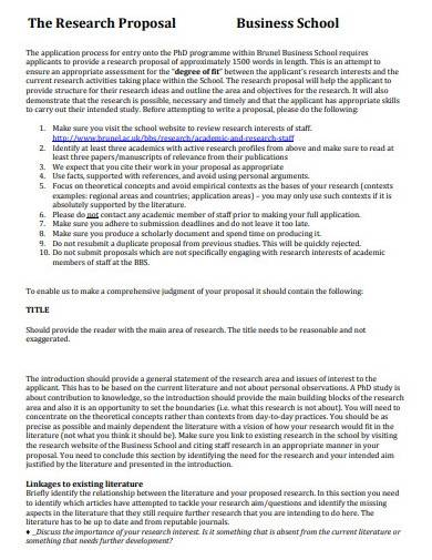 sample business school research proposal