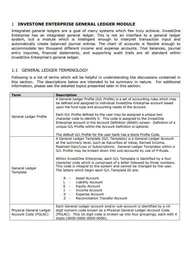 sample enterprise general ledger template