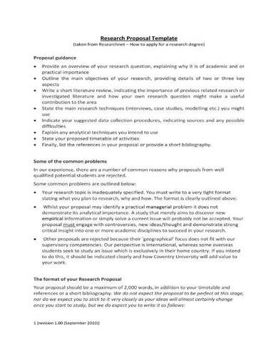 simple research proposal template
