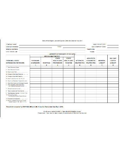 special liability report form template