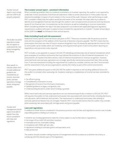 standard charity risk assessment