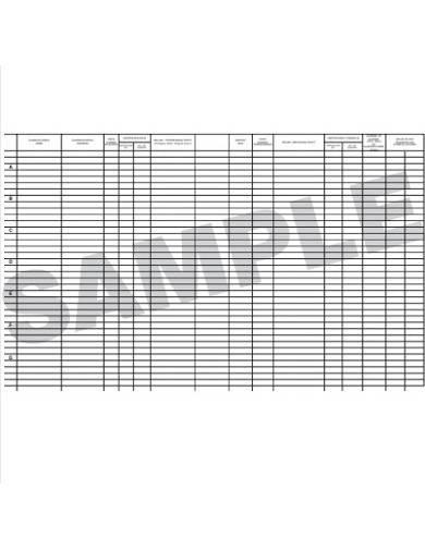 transfer ledger sample