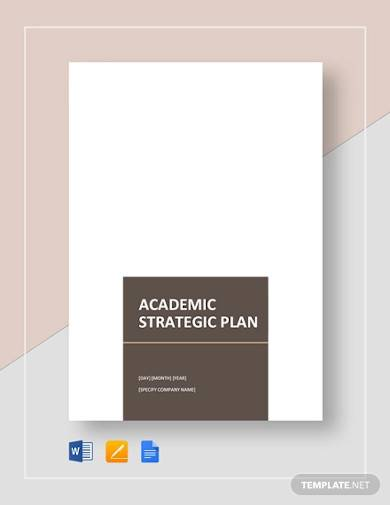 academic strategic plan template