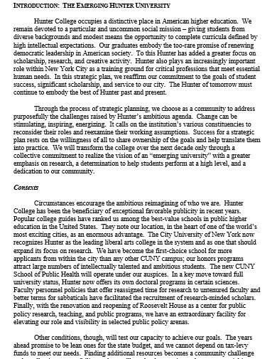 academic year strategic plan
