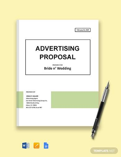 advertising campaign proposal sample