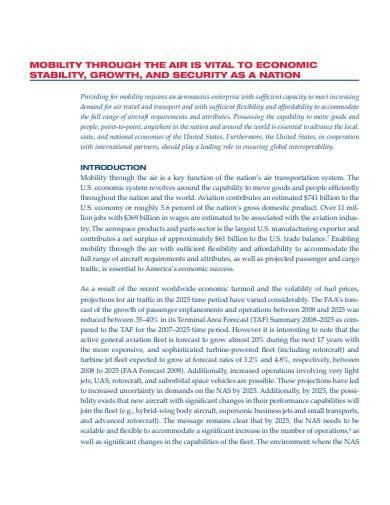 aeronautics research and development plan