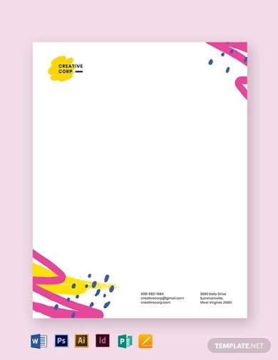 art letterhead template