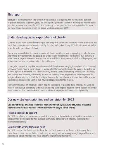 basic charity commission annual report