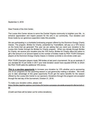 basic charity fundraising letter