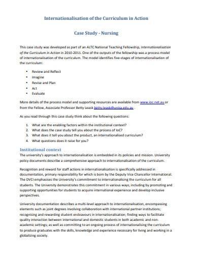 basic nursing case study template