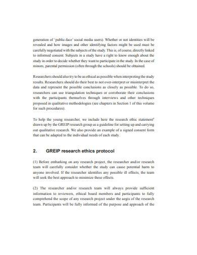 basic research ethics template