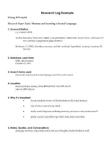 basic research log