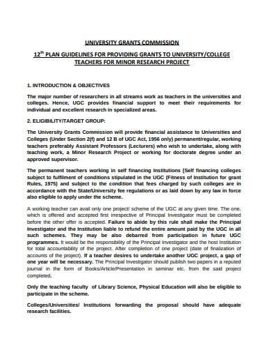 basic research proposal plan