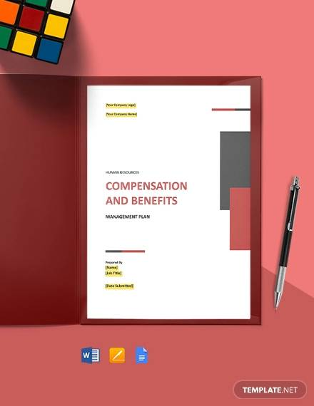 benefits and compensation management plan template