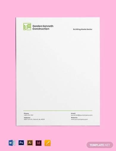 building letterhead template