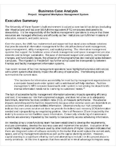 business case executive summary