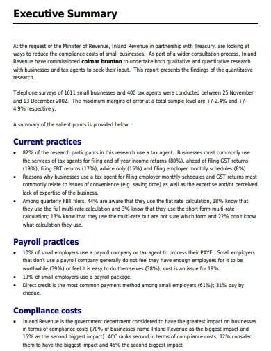 business quantitative research report