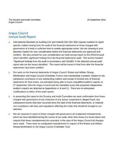 charitable trust annual audit report