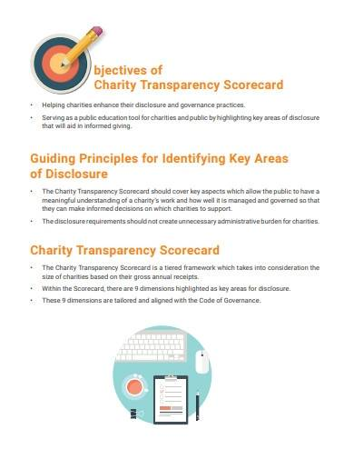 charities assessment template