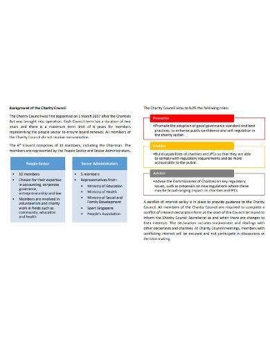 charity assessment governance report