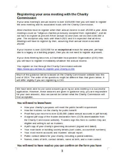 charity commission risk register template