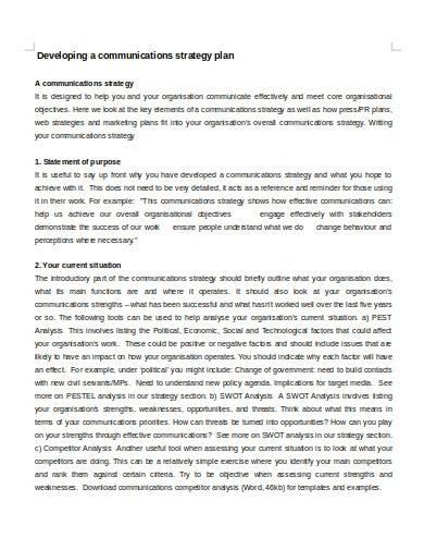 charity communications strategy plan