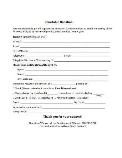 charity donation thank you letter format