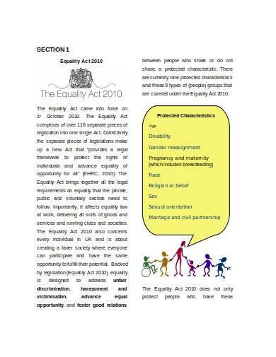 charity equality assessment template