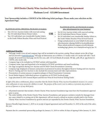 charity foundation sponsorship agreement