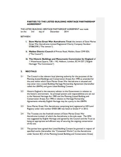 charity partnership agreement format