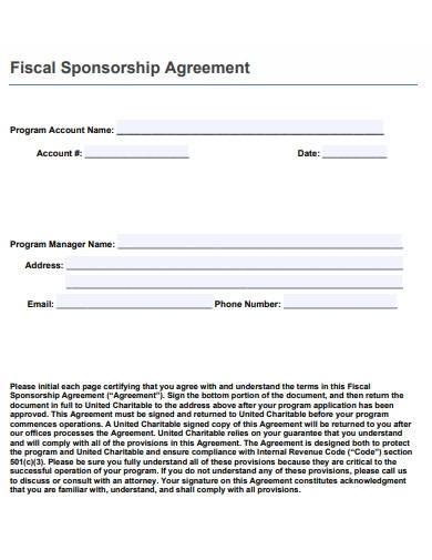 charity program sponsorship agreement
