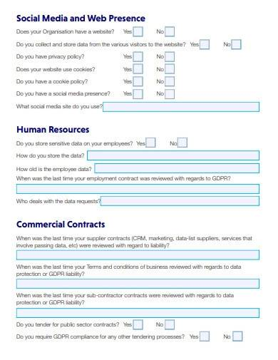 charity sector questionnaire template