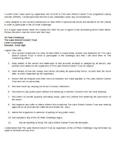 charity sponsorship agreement