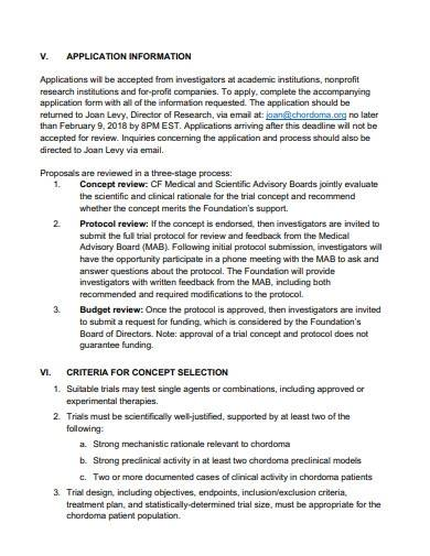clinical program research proposal