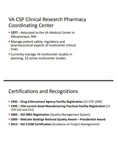 clinical research pharmacy project plan