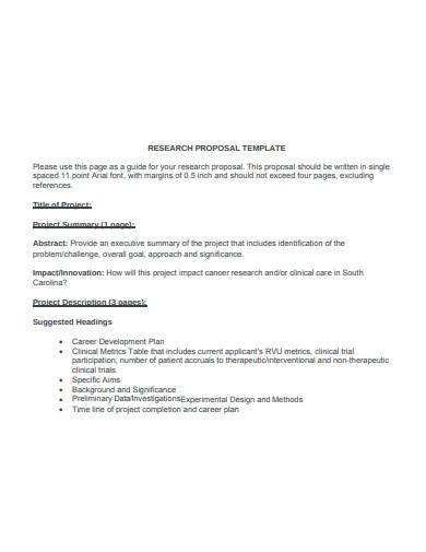 clinical research proposal template