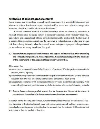 code of conduct on research
