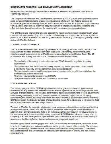 cooperative research and development agreement