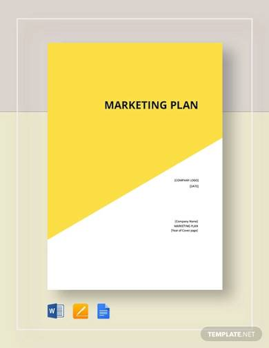 cover page marketing plan sample