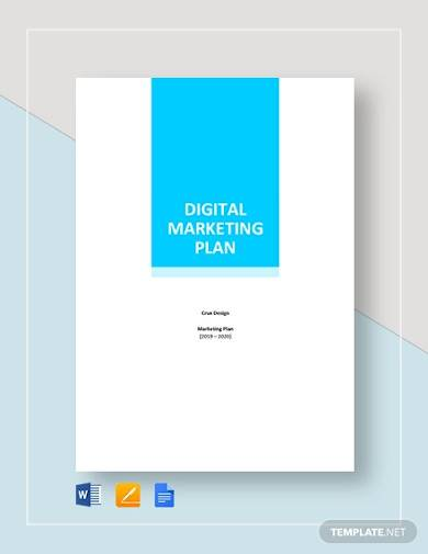 digital marketing plan sample