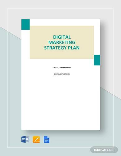 Free 14 Sample Marketing Strategy Templates In Pdf Ms Word Pages Google Docs