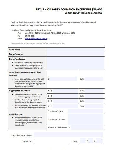 donation commission application form